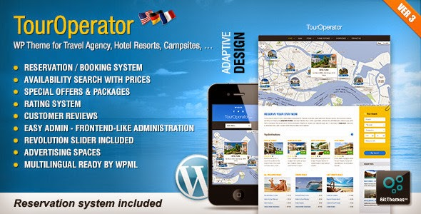 "Tour Operator v3.3 -€"" WP theme with Reservation System"