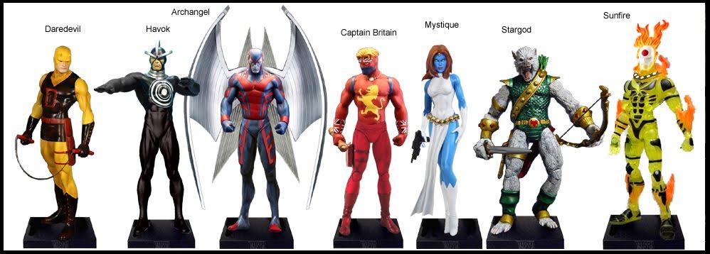 <b>Wave 37</b>: Daredevil, Havok, Archangel, Captain Britain, Mystique, Stargod &amp; Sunfire variants