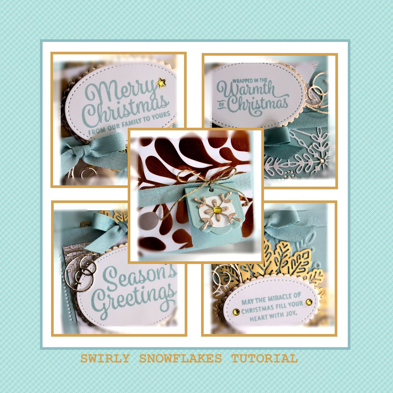 December 2017 Swirly Snowflakes Tutorial