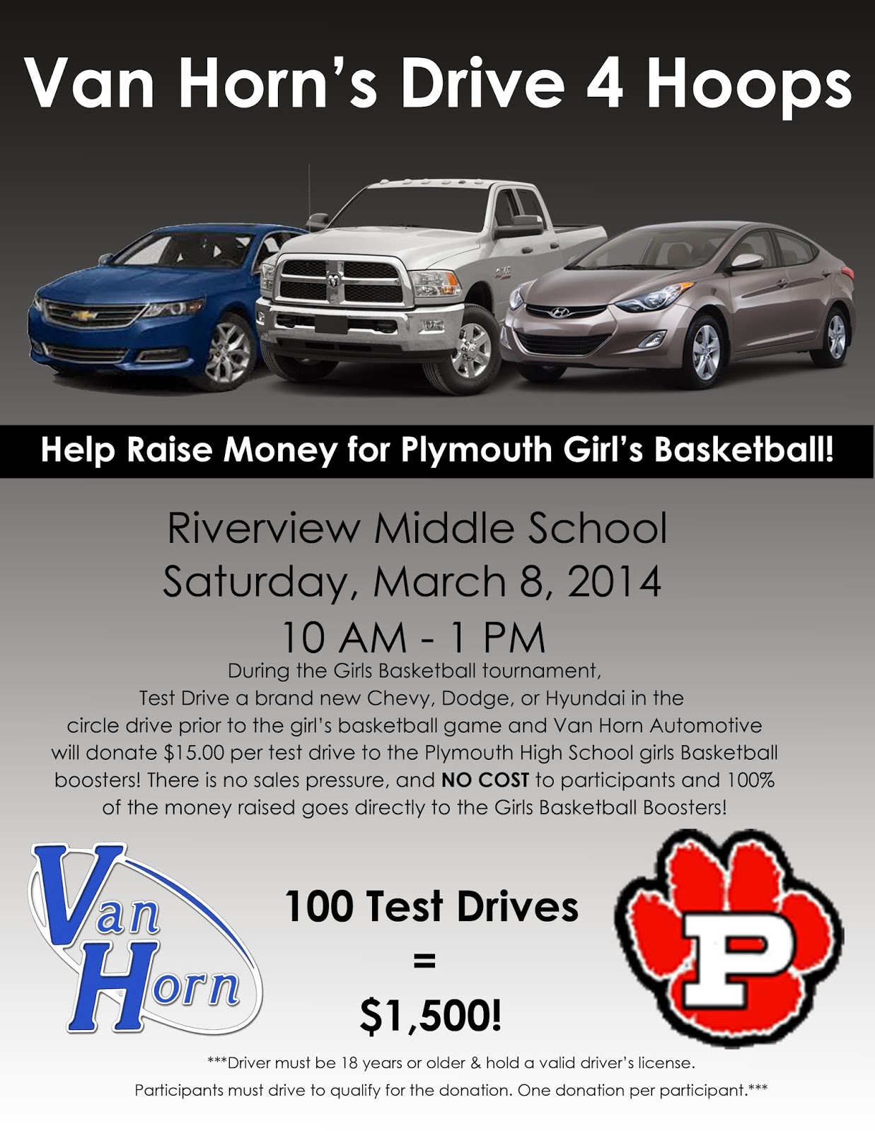 Plymouth wi feb 10 2014 on saturday march 8 2014 between 10 00am and 1 00pm van horn automotive will team up with the plymouth area basketball