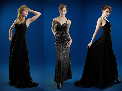 halter black evening dresses