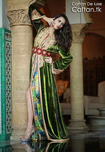 Takchita marocaine verte deux pièce 2014