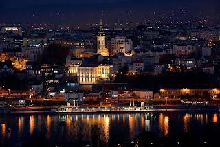 Beograd, Serbien med Cathedral of St. Sava
