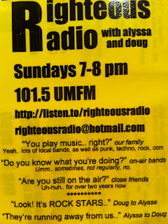 Righteous Radio old flyer