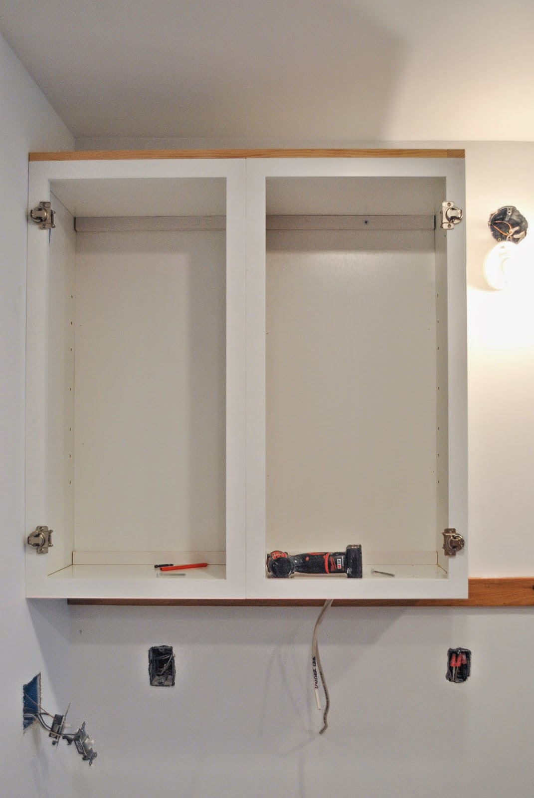 PBJstories: Installing Upper Kitchen Cabinets | #PBJstories