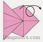 Bước 7: Lật ngược tờ giấy ra đằng sau.