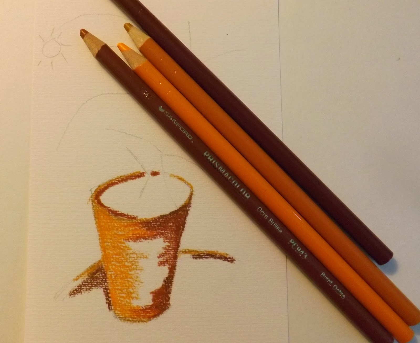 the gallery for gt orange fruit pencil drawing