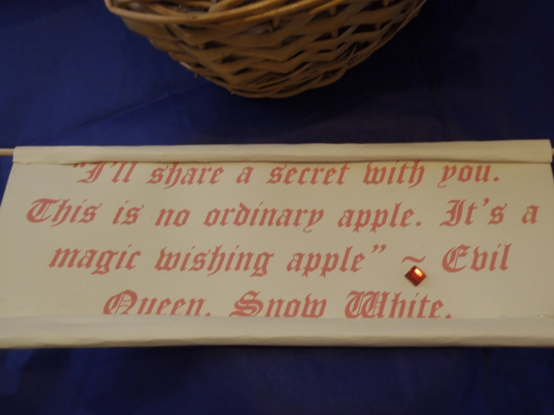 Poison Apple Snow White Quote Snow s quote scroll reads Quotes From Snow White