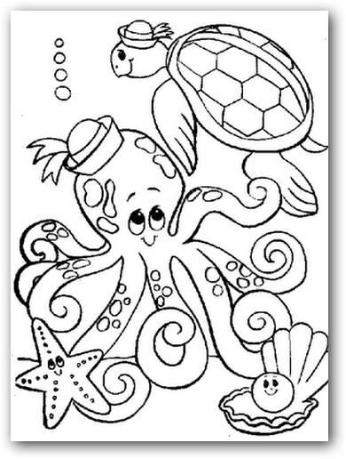 Dibujos para colorear los animales del mar | Dibujos para Colorear
