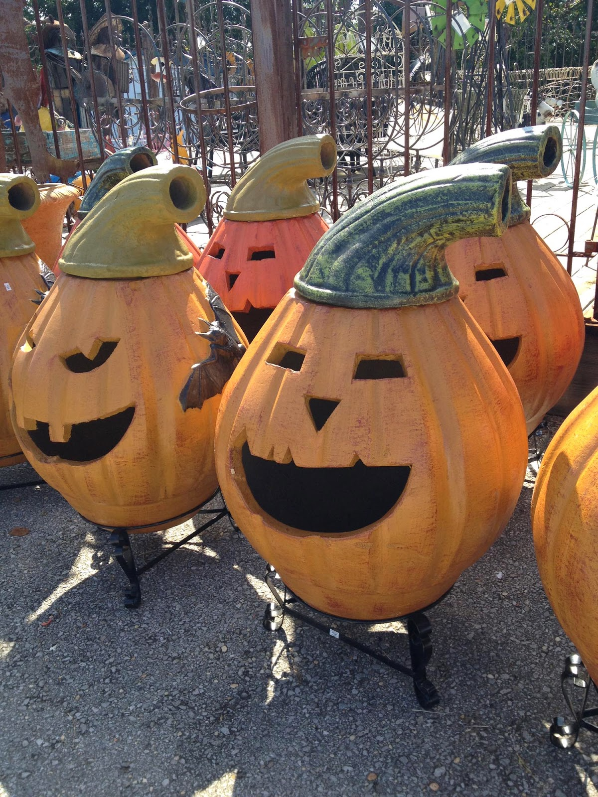 Exceptional Jack O Lantern Chimineas. This Is The First Time Iu0027ve Seen These.