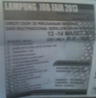 Lampung Job Fair 2013 With Karir.com