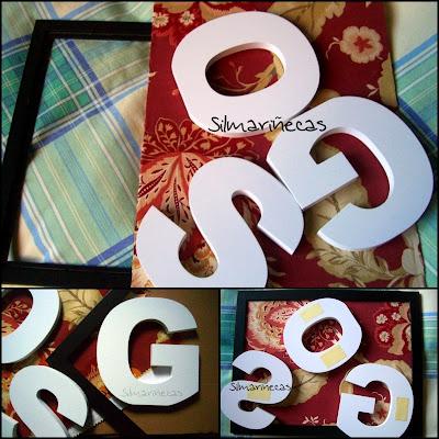 cómo se hace un cuadro con letras blancas