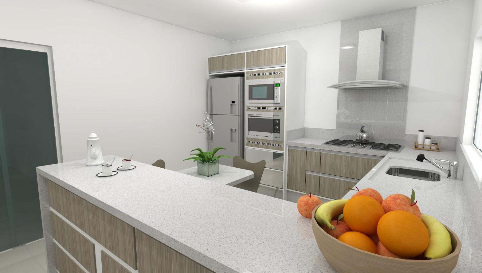 Sekai Projetos e Interiores: Sala e cozinha móveis brancos com  #833F10 1569 889
