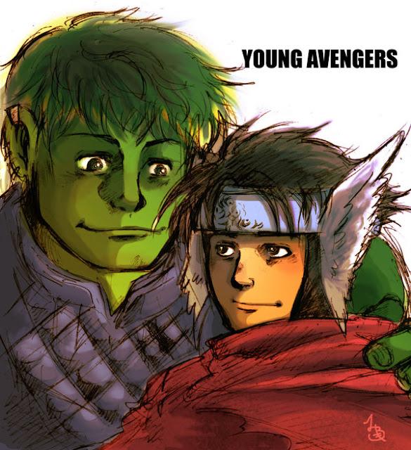 YOUNG AVENGERS por BACBAC-MIKI
