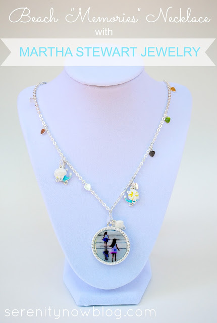 "Beach ""Memories"" Necklace with Martha Stewart Jewelry, from Serenity Now blog"