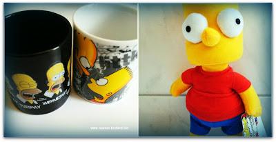 Tasse und Simpsons Plüschfigur