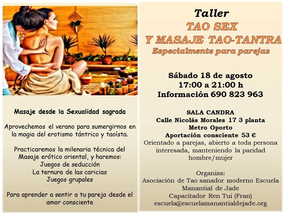 TALLER TAO SEX Y MASAJES TAO-TANTRA