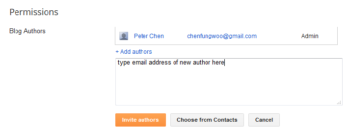 change email address blogger