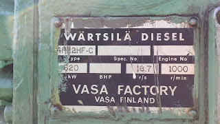 Wartsila VASA, used Wartsila, second hand, Hz, RPM