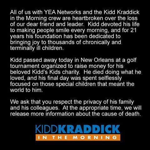 Kid Kraddick Death
