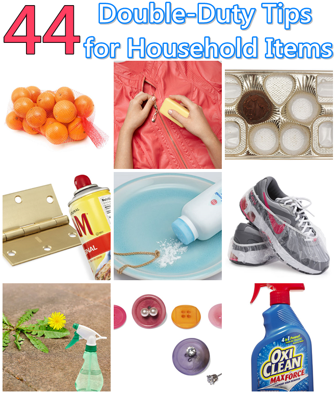 44 Double-Duty Tips for Household Items