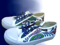 Sepatu Lukis joe 206 Cowok Rp 125 000,septu lukis ornamen,sepatu lukis batik