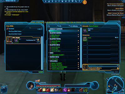 SWTOR - Crafting Crew Skill