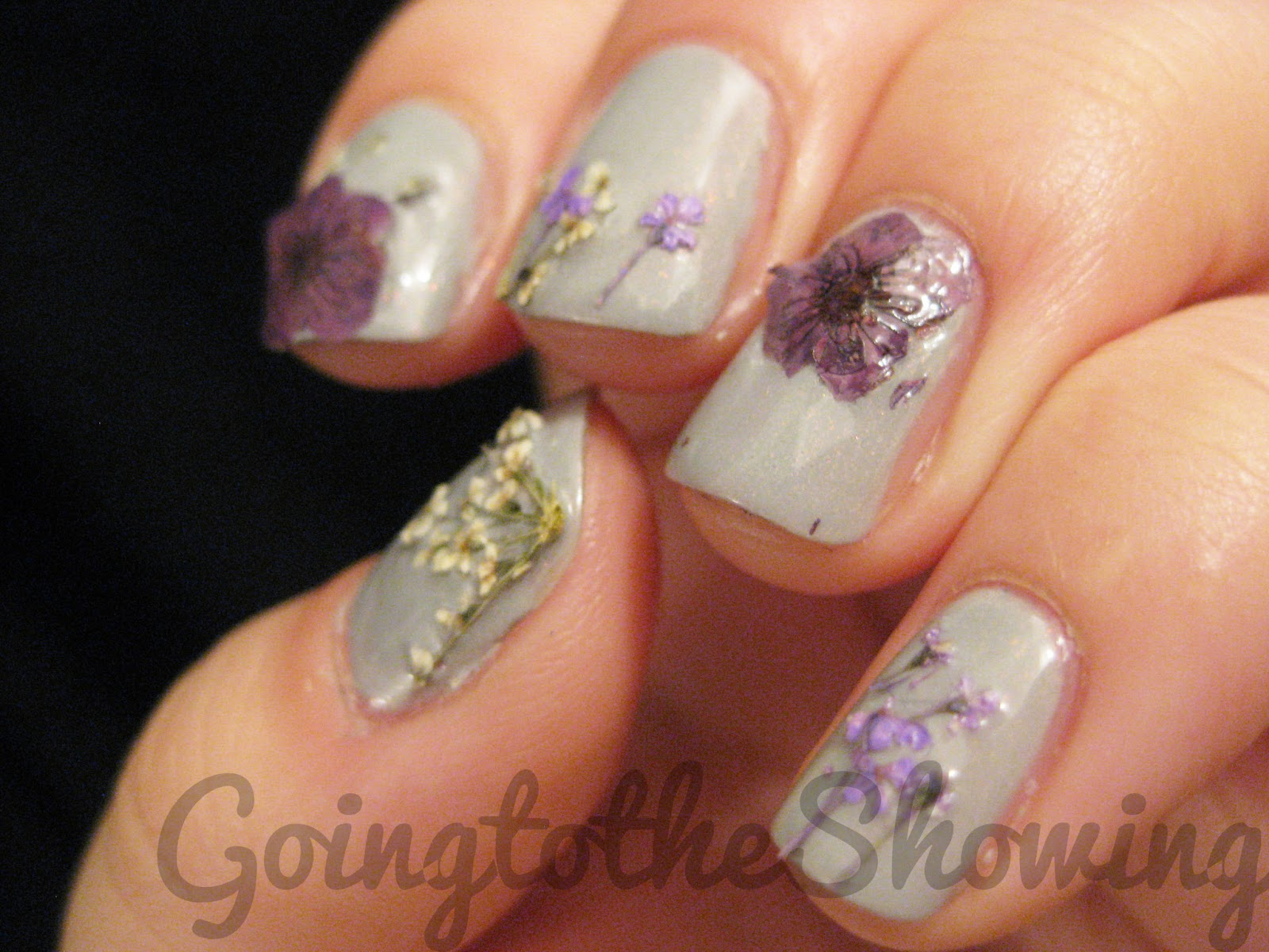 Born Pretty Store Dried Flower Nail Art Review ~ GOINGTOTHESHOWING