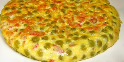 recetas de cocina tortilla de jamon y guisantes