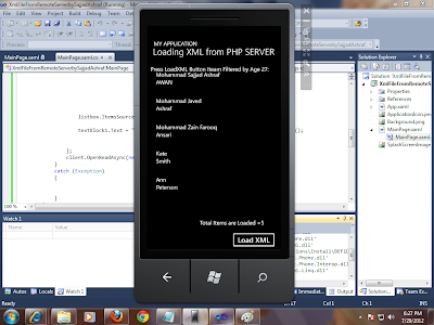 Access XML File Hosted on Php Server In Windows Phone 7