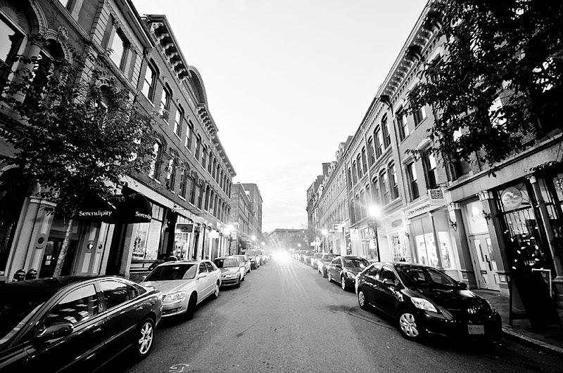 Exchange Street Old Port in Portland, Maine photo by Corey Templeton