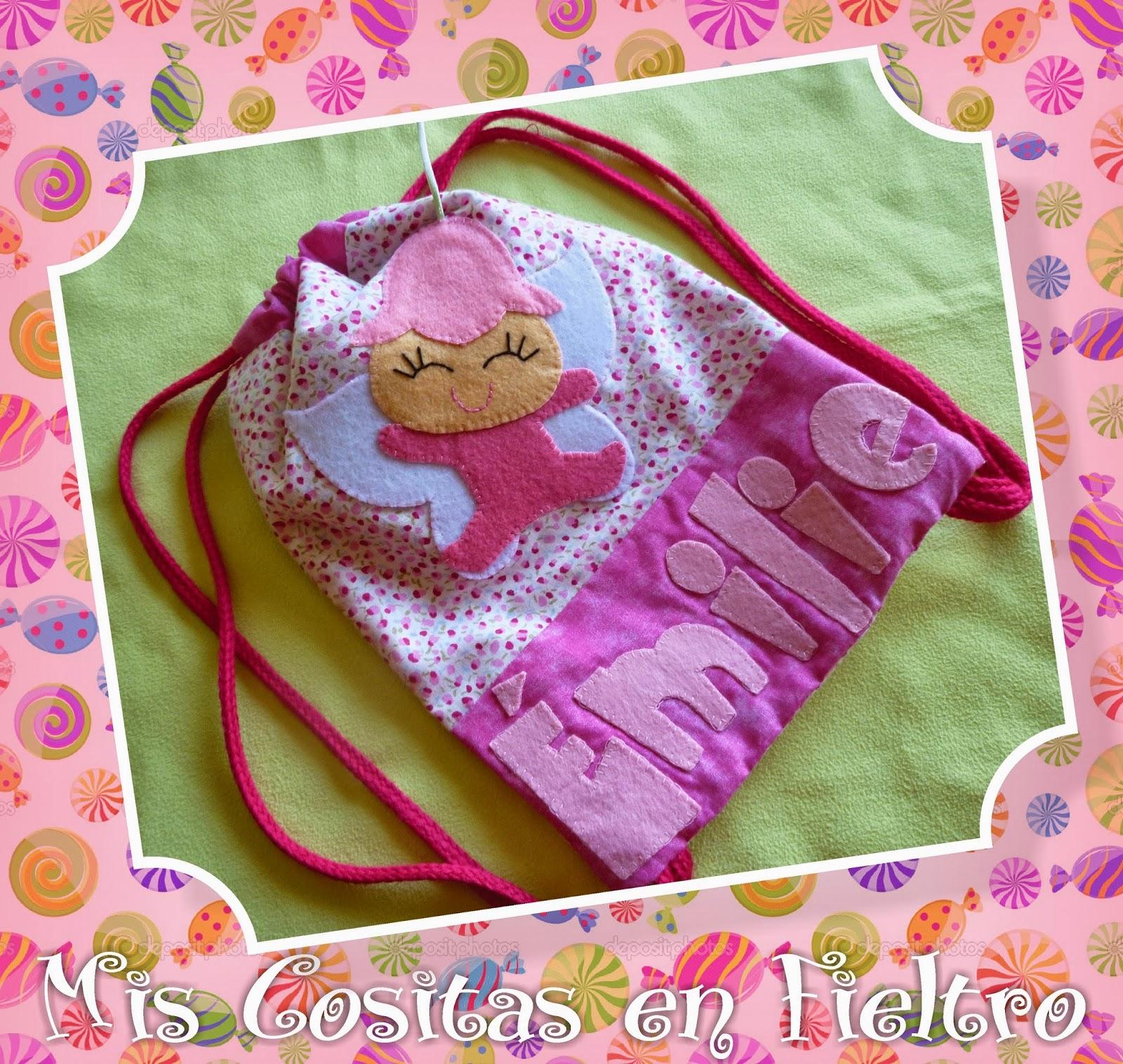 mochila de merienda, mochila para merienda, bolsa de merienda, fietlro, niños, merienda, regalo, hada, mariposa, cute