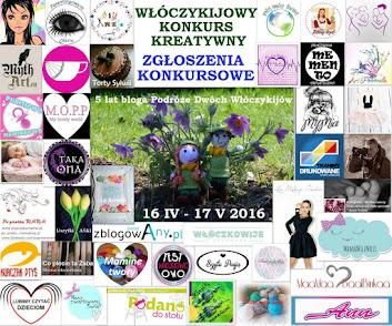 WSZYSTKIE PRACE KONKURSOWE zgłoszone na Włóczykijowy Konkurs Kreatywny z okazji V. Urodzin Bloga: