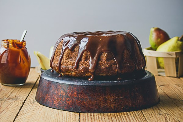 Pear Bundt Cake with Caramel Glaze: This is a Sweet Blog