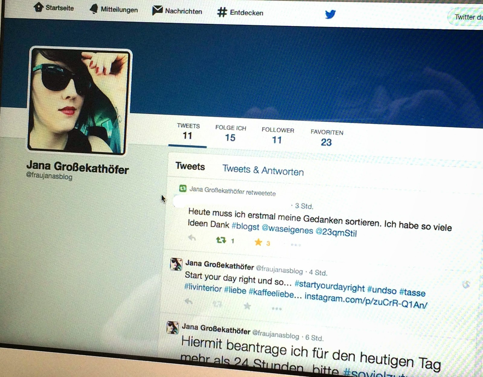 Twitter Frau Jana