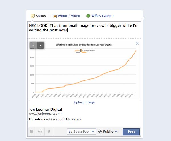 xem trước link kích cỡ lớn facebook