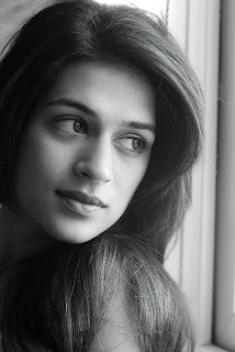 Shraddha Das Closeups of Face Portfolio Pisc Spicy Black and White Shoot