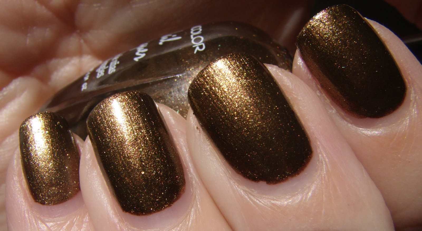 My Nails Today Klean Color Coffee Addict A Medium Bronzey Brown Metallic