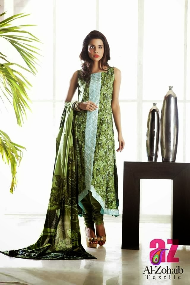 Long Printed Lawn Frock Dresses