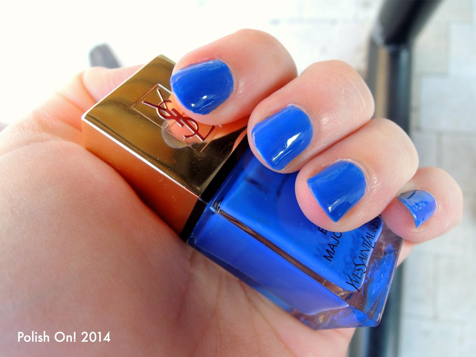 YSL La Laque Couture: 18 Bleu Majorelle Swatches, Photos and ...