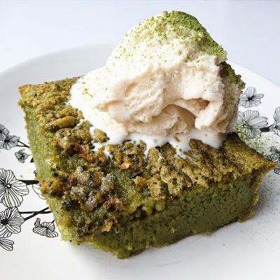 - - - - - matcha mochi cake - - - - -