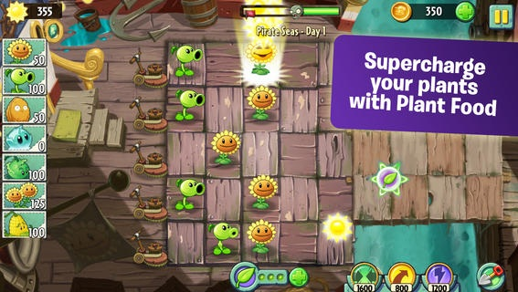 Plants vs Zombies 2 with free in-app purchases. One of the most addictive iPhone games get a successor. Plants vs. Zombies 2 was first only available in Australia and New Zealand, but since today is the game available for the entire world.