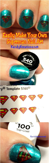 DIY SUPERMAN NAIL ART: Easily and quickly make your own Superman nail art look perfect for every day or birthday celebrations. It's so easy even a novice like me can do it!
