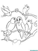 Memberi Warna Pada Gambar Burung Berkicau