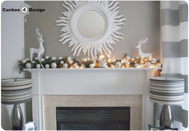 Christmas mantel with unfunctioning light strand