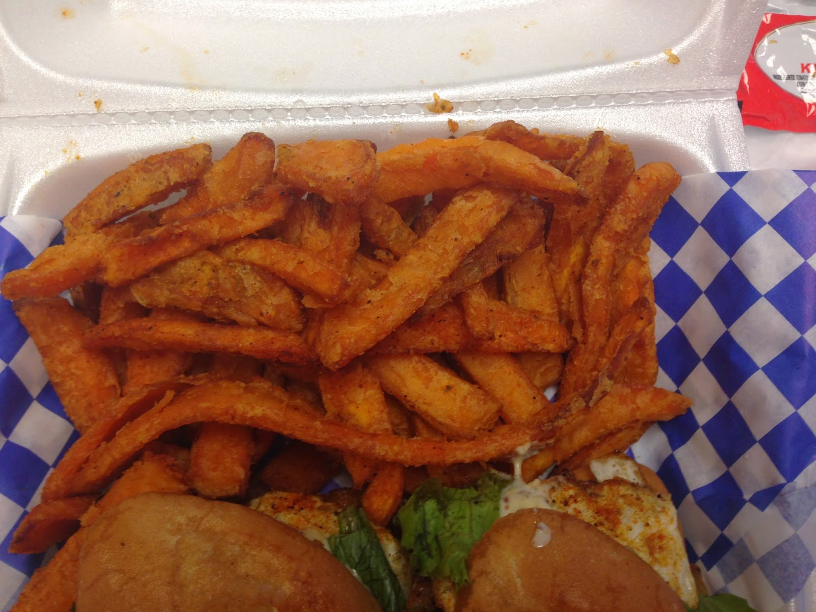 Curbside Sliderz Food Truck, Houston TX Sweet Potato Fries