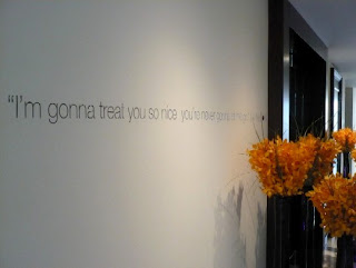 Quotation and Sayings on silver wall
