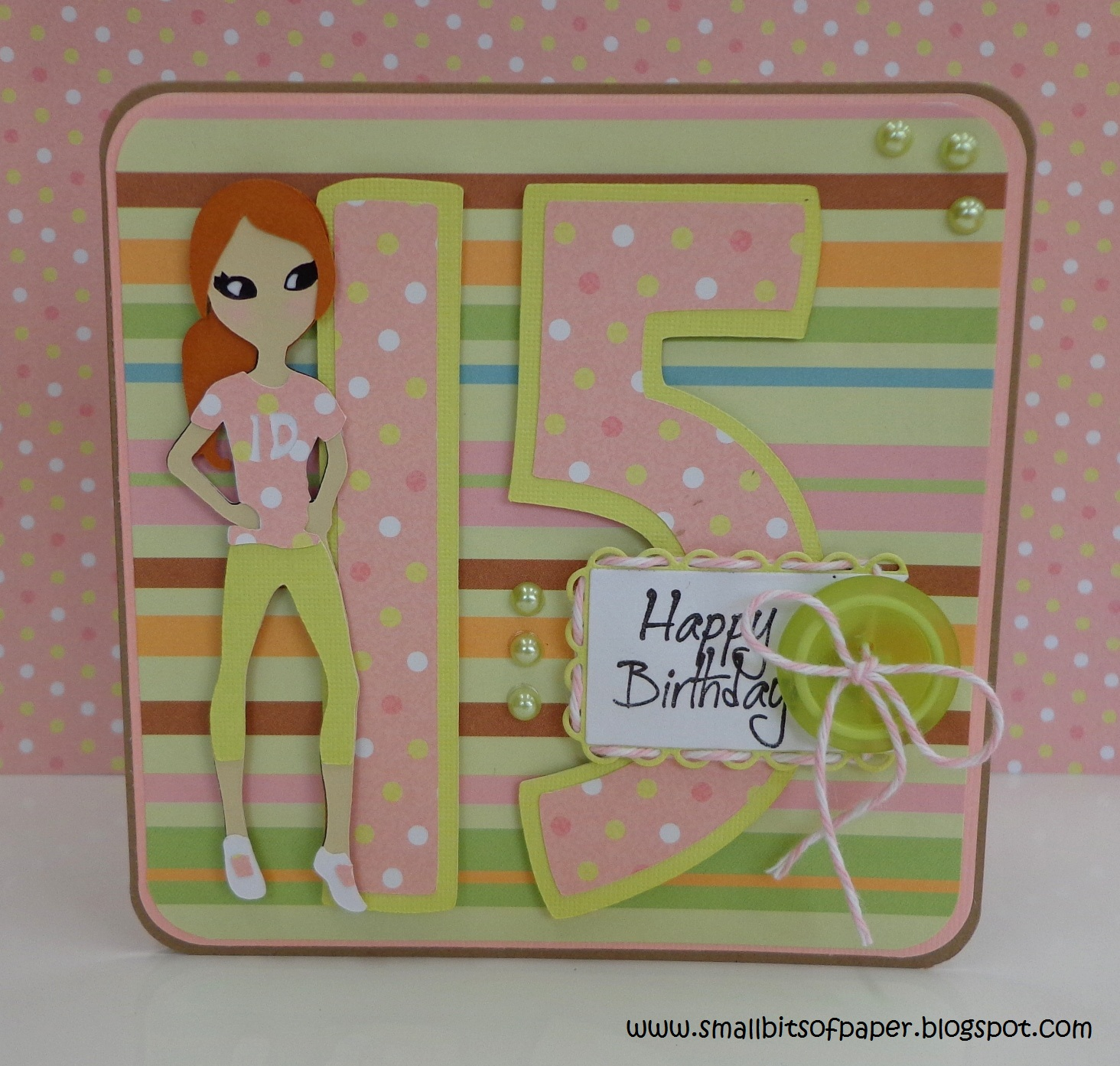 Small Bits of Paper Birthday Card for My Niece – Teen Birthday Cards