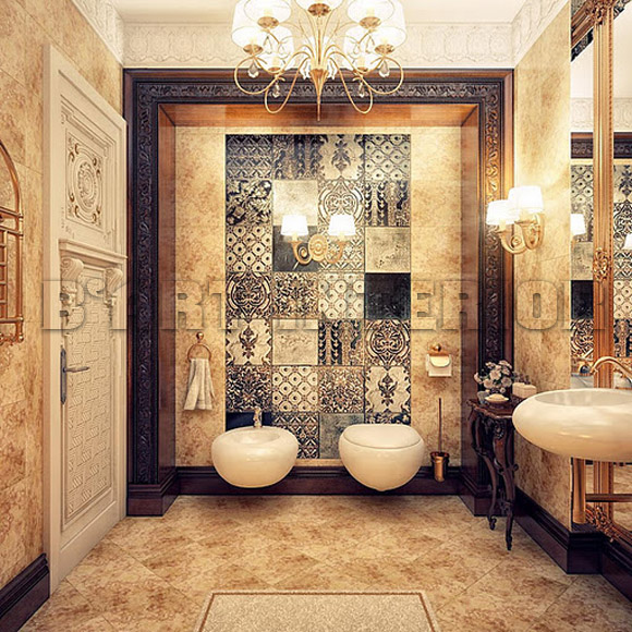 Combine classic and modern bathroom design home interior for Classic bathroom design
