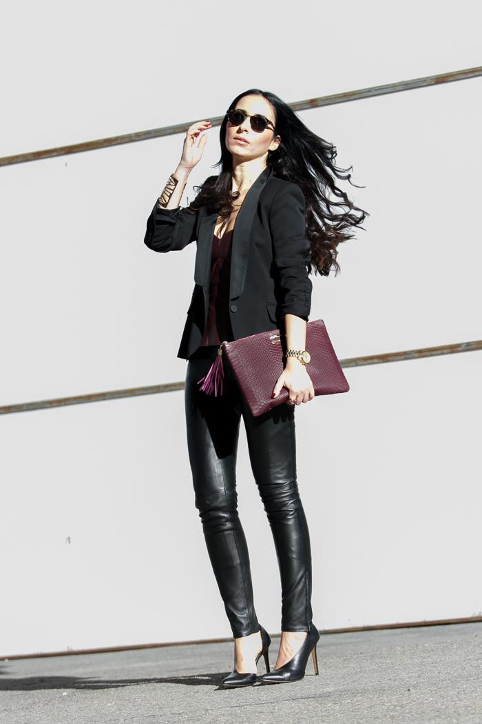 Prenda confeccionada a medida por Gabriel Segui para la blogger valenciana de moda withorwithoutshoes
